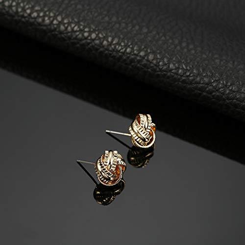 SSEHL Pendientes De Moda de Color Oro Pendientes de Stud Pendientes Joyería de Moda Pendientes de Las Mujeres Regalos del Banquete de Boda Accesorios Femeninos