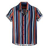 ZODOF Camiseta Hombre Manga Corta Casual, Camisas Hawaiana Algodón Señores Verano Blusas Slim Fit tee T-Shirt Tops Moda Regalos para Hombre Regalos para Padres Ropa de Vacaciones Suave