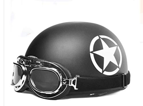GAOZHE Cascos Half Helmet, Casco Moto Abierto Retro Cascos Half Helmet ECE...