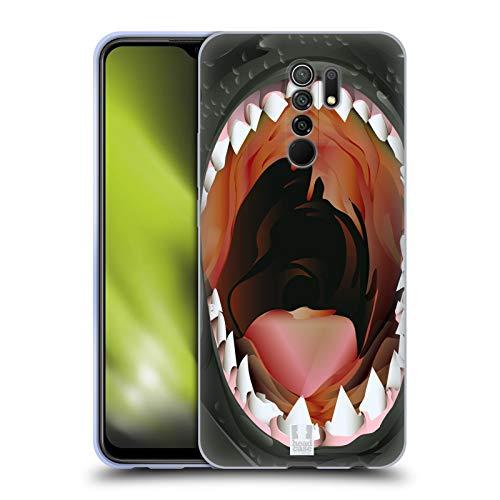 Head Case Designs Piraña Diente de Navaja de Afeitar Carcasa de Gel de Silicona Compatible con Xiaomi Redmi 9