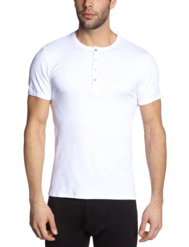 Schiesser Herren Unterhemd 123627-100, Gr. 6 (L), Weiß (100-weiss)