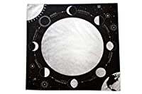 Moon Phases Altar Tarot Cloth, Large 24 Inches x 24 Inches