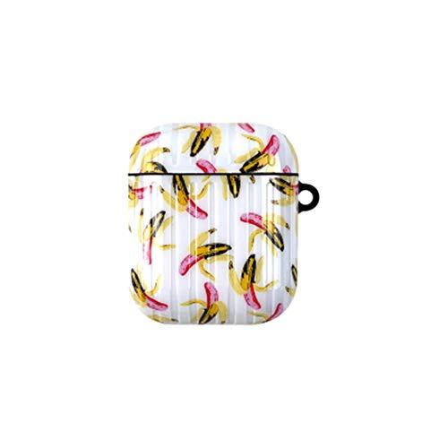 onder nieuwe Banana airpods 1/2 generatie beschermende cover airpods pro hoofdtelefoon koffer bagage stijl te koop, airpods1/2, Kleur: wit