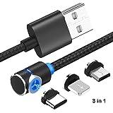 superior ZRL® Type c magnétique 90°coude tressé câble de Charge magnétique Ronde USB-C Cordon...