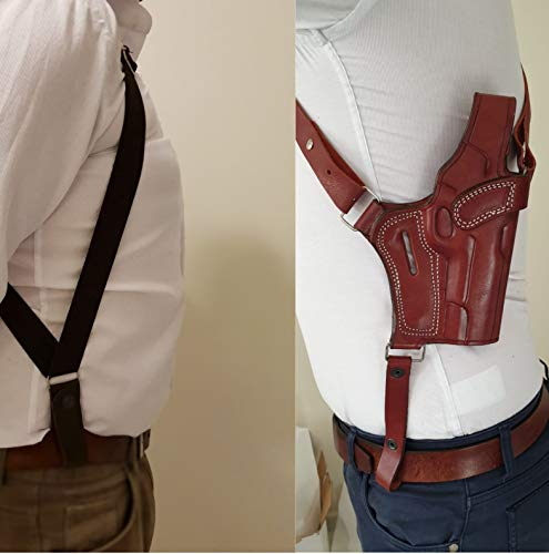 """Shoulder Holster for Springfield XDS 3.3"""" - Genuine Leather - Handmade - Premium Quality- Brown"""