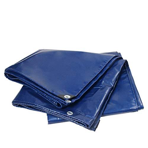 ALYR Toldo Reforzado, tela engrosada Lona Impermeable Ideal para carpa, toldo, bote, camión o cubierta de piscina,Blue_6.3x9 Feet