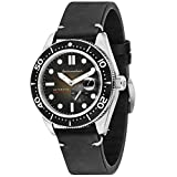 SPINNAKER Men's Croft 43mm Leather Band Steel Case Automatic Watch SP-5058-03