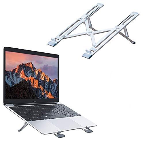 KLIM Steady - Soporte portátil + Estructura de Aluminio Ligera y Resistente + 5 años de garantía + Elevador portatil Ajustable Compatible hasta 15,6 Pulgadas + Soporte Tablet Plegable + Nuevo 2020