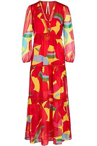 Marc Cain Additions Damen Maxi-Kleid Farbe rot, Größe 40