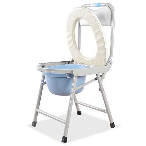 HSRG Klapp-Kommode Stuhlplatz Portable Toilettensitz, Porta Potty-Comfort Chair Perfekt für Camping, Wandern, Ausflüge, Baustellen