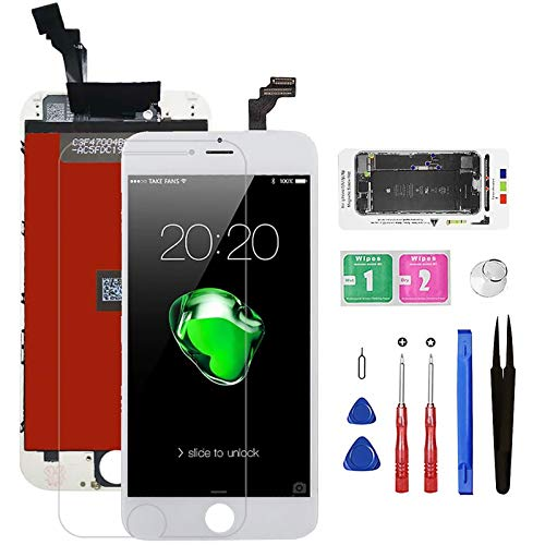 for iPhone 6 Screen Replacement, Bsz4uov LCD Display 3D Touch Digitizer Screen Replacement for A1549, A1586, A1589 Repair Tools,Screen Protector with Magnetic Screw Mat