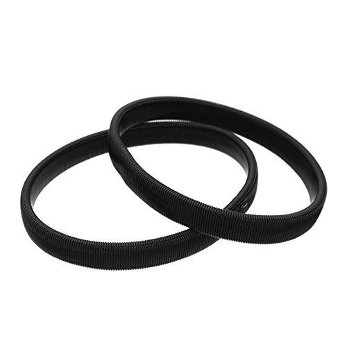 ECYC Elastisches Armband Hemd Ärmelbündchen Elastische Metallarmbänder, Schwarz