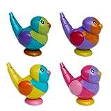Toyvian プラスチックホイッスル鳥型ノイズメーカーパーティーはygdzトレーニングスポーツホイッスル用キッズ子供風呂おもちゃ4ピース