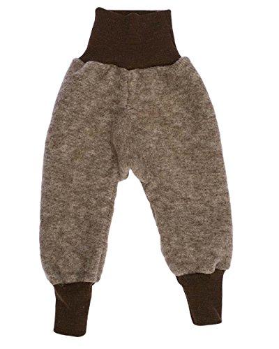 Cosilana Baby Hose mit Bund aus weichem Wollfleece, 60% Schurwolle kbT, 40% Baumwolle (KBA) (50/56, Braun-Melange)