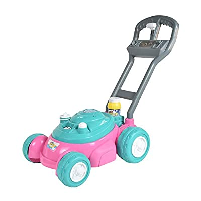 Sunny Days Entertainment Bubble-N-Go Toy Lawn Mower with Refill Solution   Pink Bubble Blowing Toy - Maxx Bubbles