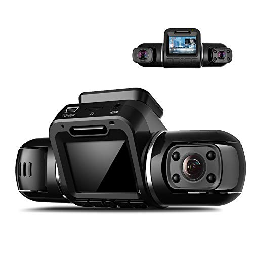 2カメラ ドライブレコーダー YAZACO X2 Pro 前後カメラ GPS内蔵 駐車監視 動体検知 Gセンサー 衝撃感知 赤外線カメラ 夜間対応 1080P フルHD 車内カメラ付き (前カメラ 2160P 2K 500万画素) 2.0インチモニター ノイズ対策済み 日本語説明書付 保証期間18ヶ月 日本語サポート対応