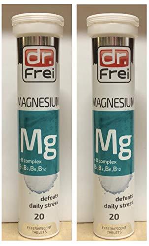 2X Magnesium Plus B Complex effervescent 20 Tablets dr Frei
