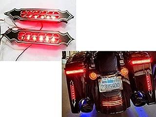 USA LA5 Black Harley Bagger Custom Touring Sportster Rear Saddlebag Blinkers Taillight Brake Lights Led Turn Signal Billet CNC