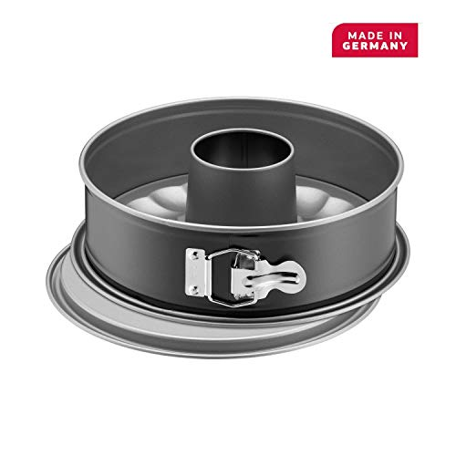 Kaiser Springform Pan with 2 Bases, Stainless Steel, Black, 26 cm