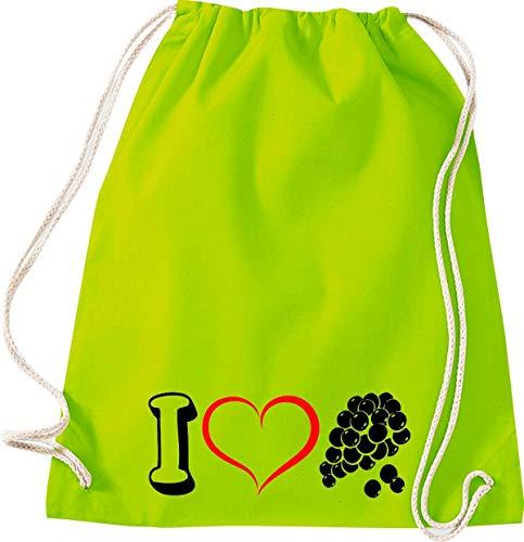 Camiseta stown Turn Bolsa Fruta I Love Vino uva Uvas, lima