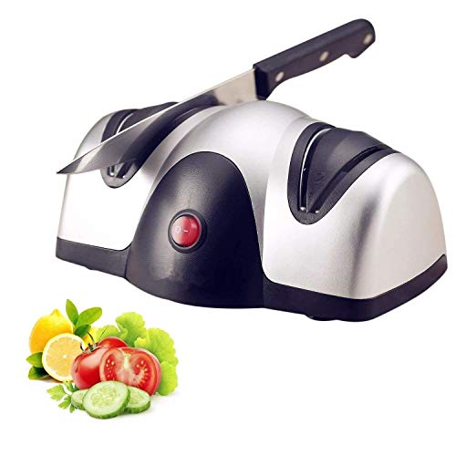Professional Electric Knife Sharpener, Kitchen Knives Best 2-Stage Sharpening System for Grind and Fine Hone Knives (Color : AS PHOTO, Size : ONE SIZE)