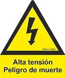 MovilCom® - ADHESIVO PENTAGONO ALTA TENSION 105mm LADO homologado nueva legislación (ref.RD64003)...
