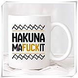 N\A Tazza di Hakuna Mafuckit, Tazza di caffè del re Leone, Regalo per lei, Regalo per Lui Regalo di collega, Tazza/Tazza novità caffè in Ceramica da 11 Once