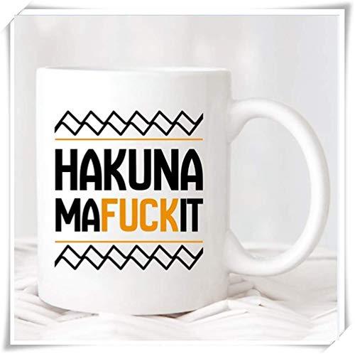 N\A Taza Hakuna Mafuckit, Taza de café del Rey león, Regalo para Ella, Regalo para él, Regalo de compañero de Trabajo, Taza/Taza de café de cerámica de 11 oz