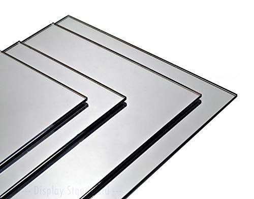 Metacrilato espejo plateado 2mm. Para decoración, artistas, fotografías, soportes, manualidades, baño, habitación, dormitorio, espejo ligero y fácil de instalar. (A1 (841x594 mm))