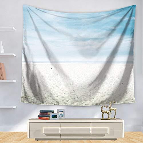 KHKJ Schöne Meerblick Meereswellen Hai Wandbehang Wandteppich Strandtuch Sonnenschein Dekorieren Wohnzimmer Büro A13 200x150cm