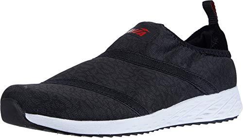 Avia womens Lifestyle Sneaker, Black/Fiery Red/Leopard, 11 US
