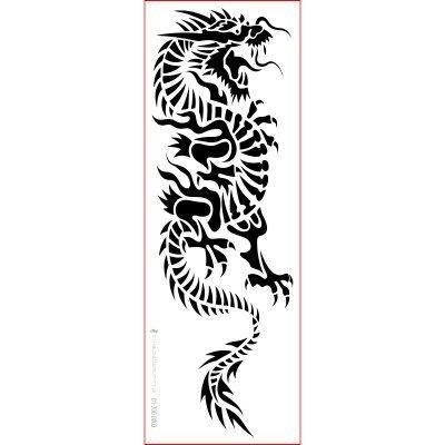 Schablone Drache stencil,chinesisch, 01-700-0003 Tribal als Wandschablone, Textilschablone, Möbelschablone, Keilrahmengestaltung und Deko, Größe anpassbar