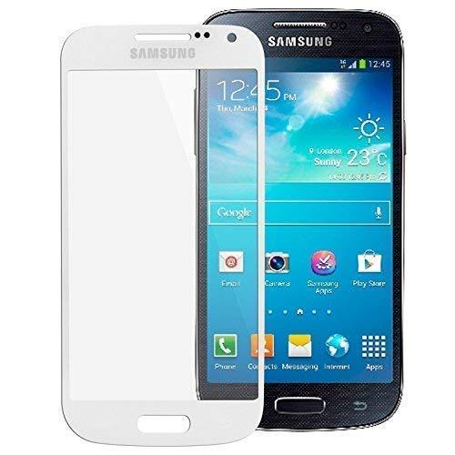 Frontglas Ersatz Austausch Touch Display Front Glas für Samsung Galaxy S4 Mini GT-I9195 Scheibe Glass LCD Window weiß