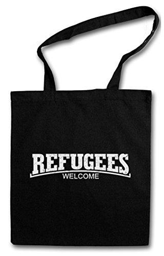 Urban Backwoods Refugees Welcome III Hipster Bag Beutel Stofftasche Einkaufstasche