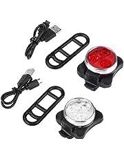 LED fiets licht set, fietsen zaklamp lichten sets, USB oplaadbare MTB fiets lamp, super heldere waterdichte fiets koplamp met achterlicht, 3 licht modi (wit+rood)