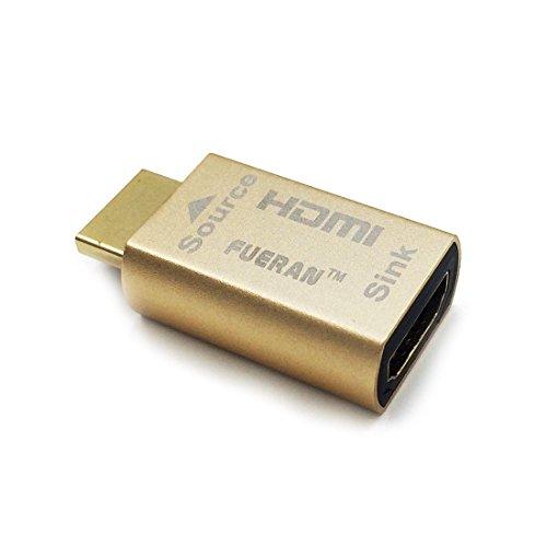 HDMI-Pass-Through-EDID-Emulator zur Verwendung mit Videosplittern, Switches und Extendern (fit-Headless) 3840x2160 @ 60h & Achtung: (Nicht unterstützt DP-zu-HDMI-Adapterkabelverbindung)