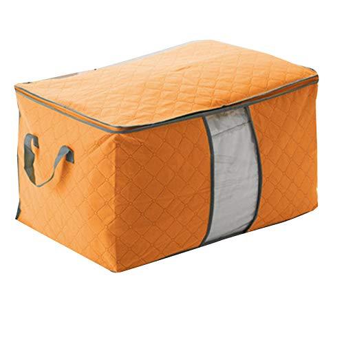 Delisouls Aufbewahrungstasche für Kleidung, Kleiderschrank, Kleidung, Decken, Quilt, Schrank, Box, Tasche, faltbar, Aufbewahrung, Organisation, feuchtigkeitsbeständig