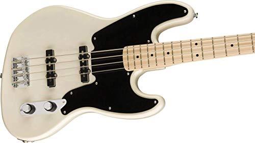 Squier Paranormal Jazz Bass '54, Diapasón de arce, Rubio Blanco