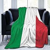 Italian Flag Flannel Fleece Throw Blankets for Bed Sofa Living Room Soft Blanket Warm Cozy Fluffy Throw Plush Blanket