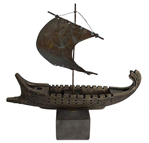 Flota espartana ateniana Trireme Penteconter Bireme Barco Antiguo de Bronce Talos Artifacts