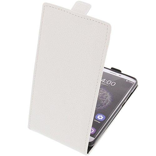 foto-kontor Funda para Oukitel U15 Pro Protectora Tipo Flip para móvil Blanca