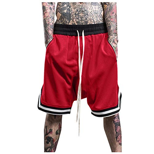 ZYUEER Herren Hosen Freizeithose Modische Männer Elastic Rope Stretch Mesh Tasche Casual Plain Sports Shorts Jogginghose Trainingshose Fitness Hose Sporthose