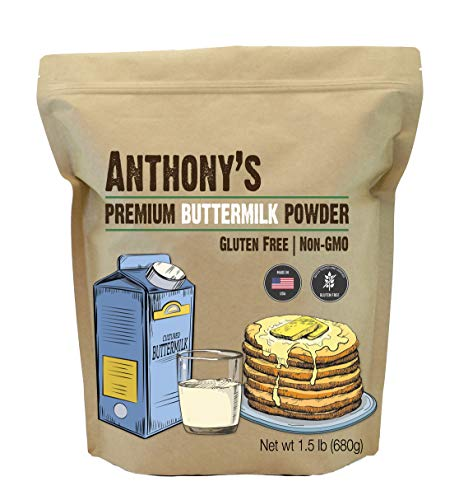 Anthony's Premium Buttermilk Powder, 1.5lb, Gluten Free, Non GMO, Made in USA, Keto Friendly, Hormone Free