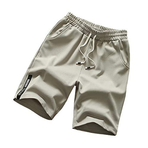 FRAUIT Bermuda Uomo Taglie Forti Costumi Da Bagno Uomini Taglie Comode Plus Size Oversize Shorts Ragazzo Running Pantalone da Nuoto da Spiaggia con Asciugatura Rapida e Traspirante Pantaloncini Calcio