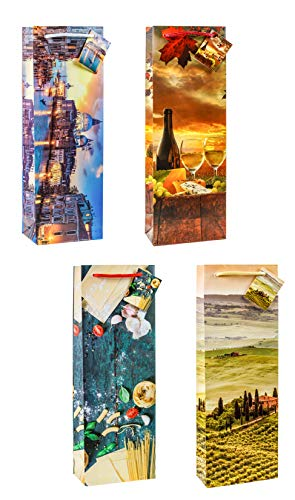 TSI 82280 geschenkzakje Toskana & Venetië, verpakking van 12 stuks, grootte: grote fles (36 x 12 x 8 cm)