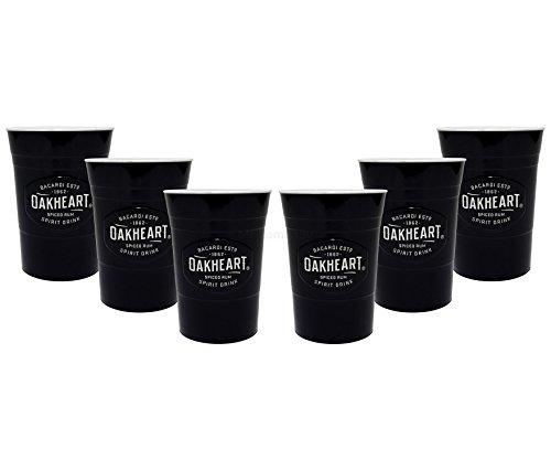 Bacardi Oakheart Becher Plastik Kunststoff Partybecher - 6er Set