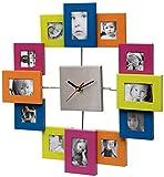 Unity Orologio da Parete in Alluminio, Multicolore, 39x38.5cm
