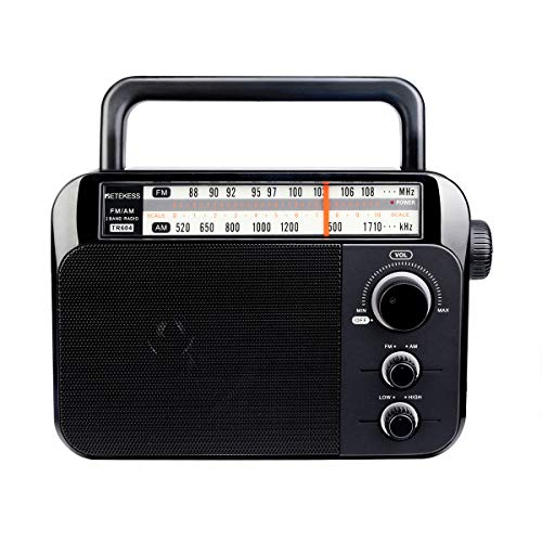 Retekess TR604 FM AM Radio Portatile Radio con Altoparlante Grande Supporto Batteria Alcalina o Alimentazione CA Facile da Usare per Anziani