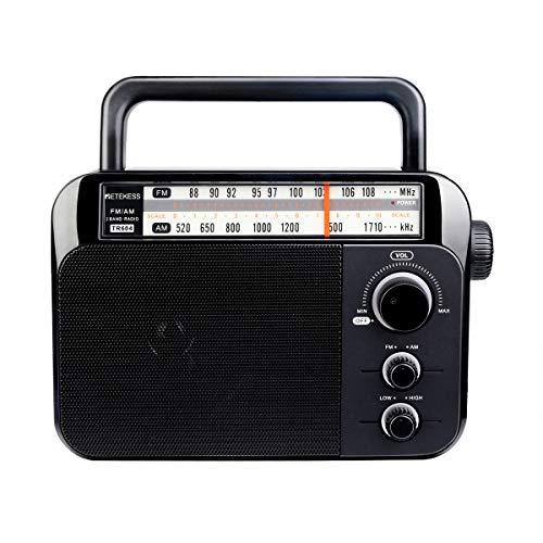 Retekess TR604 Radio FM/Am Radio Portátil con Altavoz Grande Compatibilidad con Batería Alcalina o Alimentación de CA Fácil de Usar para Personas Mayores