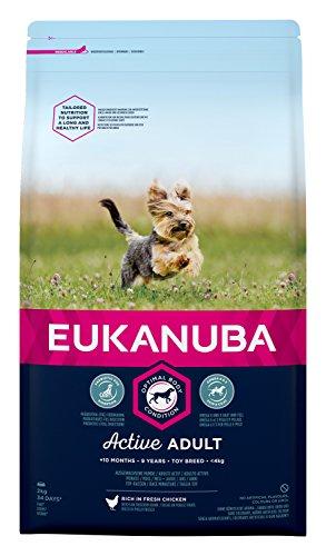 Eukanuba hondenvoer voor zeer kleine rassen, premium droogvoer met vers kip, verschillende leeftijden, 2 kg, volwassenen, 2 kg, kan variëren